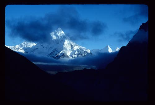 Ama Dablam from below the Cho La