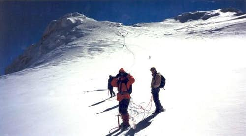 On the way to Korakas peak
