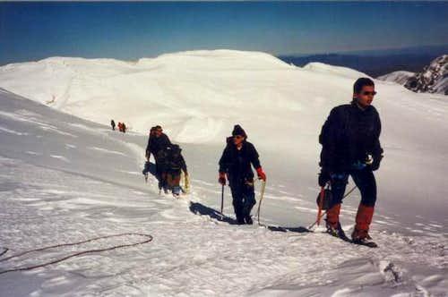 Climbers on Megalos Kampos...