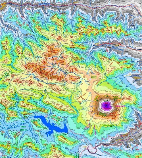Map of Damavand & Dokhaharan Massif