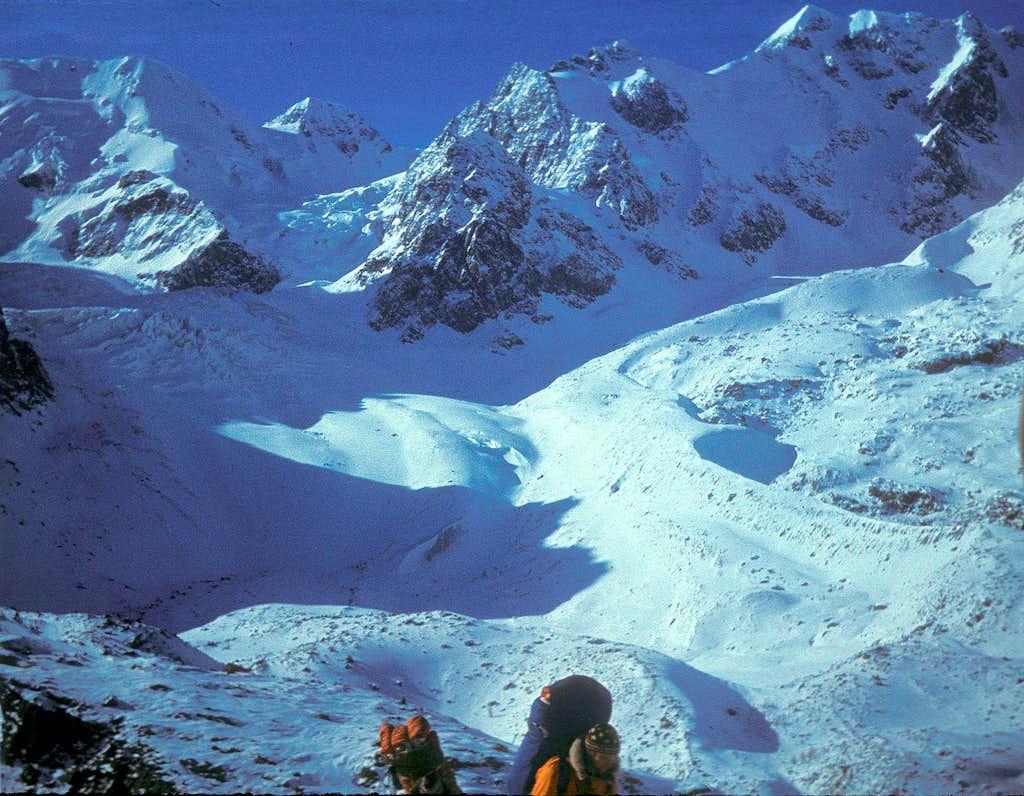 Krasavitsa Peak (3764m) and Zelinsky Clacier, Altay