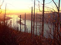 Sunset on the Columbia River from Angel's Rest Trail