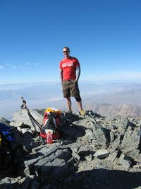 summit, mount whitney in the background