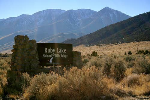 Ruby Lake NWR entrance