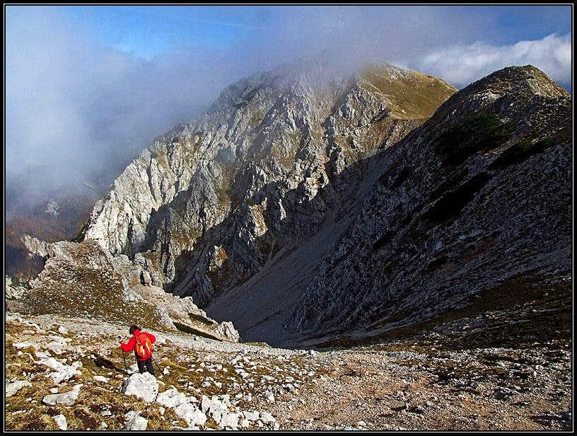 Begunjscica descent