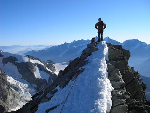 On the Top of Ober Gabelhorn 4063m