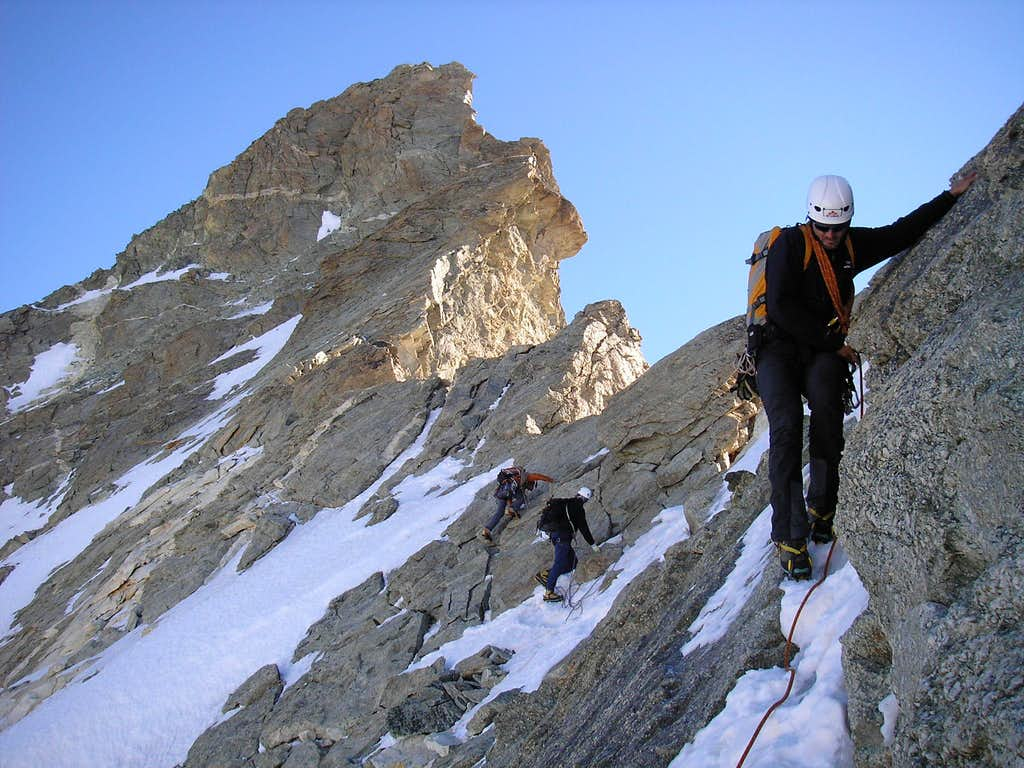 Obergabelhorn 4063m - Arben ridge