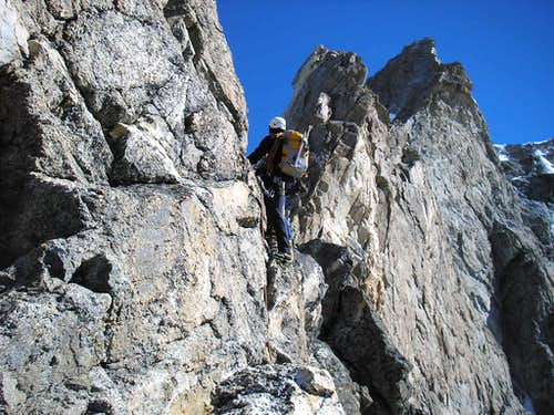 Obergabelhorn 4063m Arben ridge