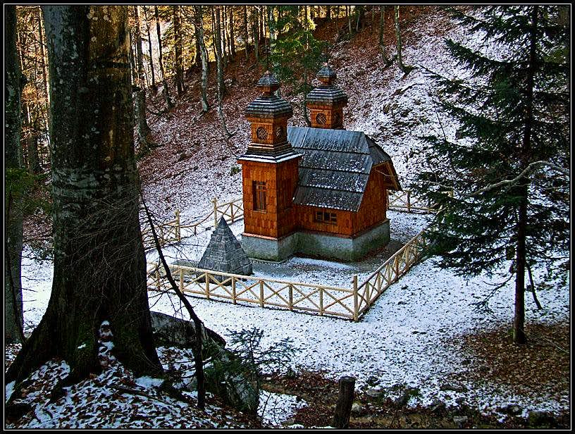 Russian Chapel below Vrsic pass