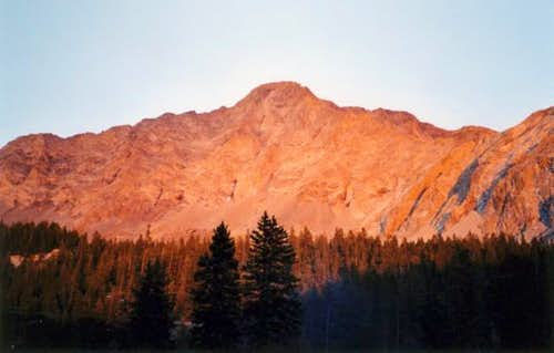 Little Bear Peak at sunset....
