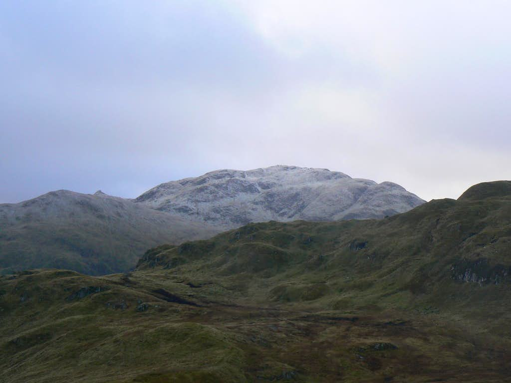 SW ridge of Meall Corranaich and Tarmachan behind