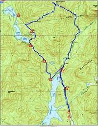 Topo Map of MacNaughton Route