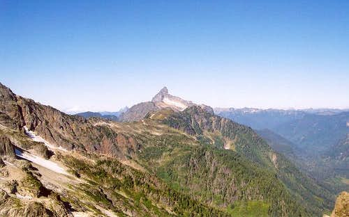Sloan Peak is at center in...