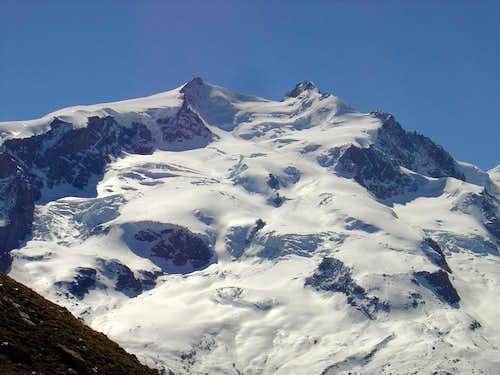 Nordend 4609m & Dufourspitze 4634m (Monte Rosa range)