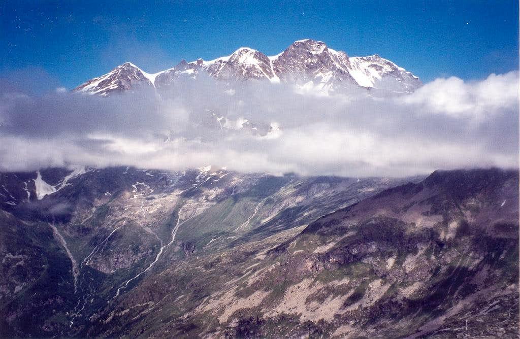 Monte Rosa from Corno Mud.