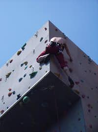 Climbing at the university sportcentre