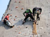 Working as a climbing instructor