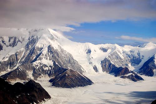 Upper Kahiltna Glacier and Pass, Denali, AK.