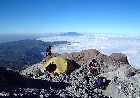 High Camp on Orizaba. Photo...