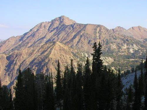 Krag Peak from the south on...