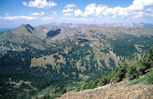 Krag Peak is at the far left...