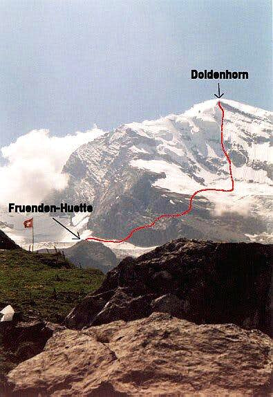 The Doldenhorn North Face...