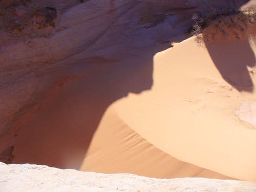 The dune of the Top Rock Alcove