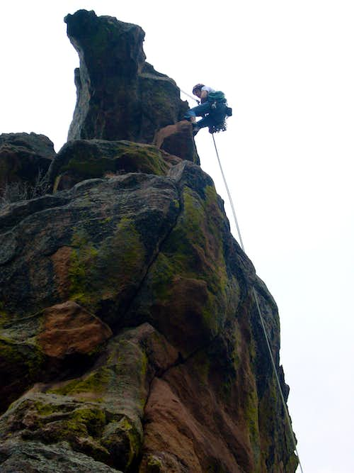 Rappelling from Der Zerkle