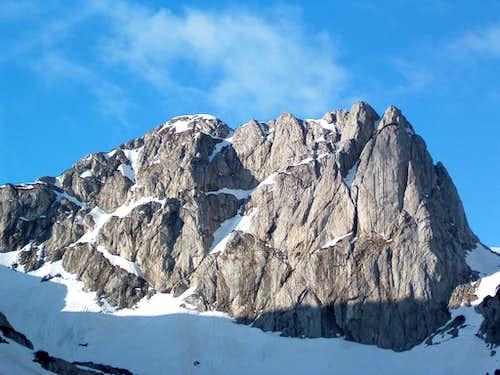 Peak Terzin bogaz in winter
