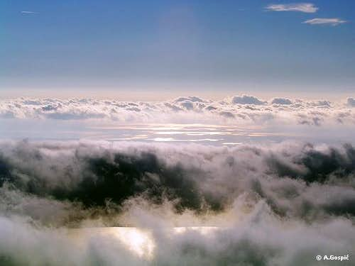 Clouds and the sea