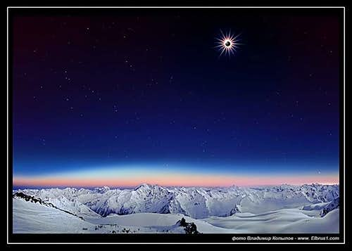 Total Solar Eclipse, seen from Elbrus