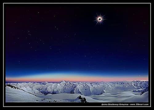 Total Solar Eclipse, seen from Elbrus