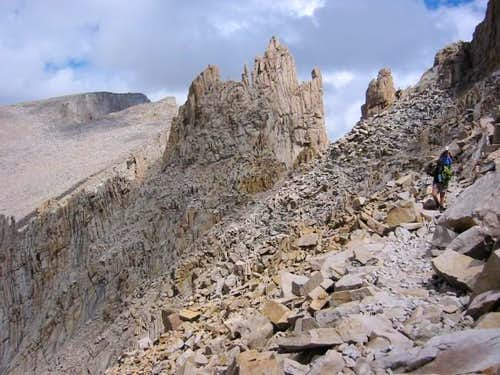 View of Whitney summit from...