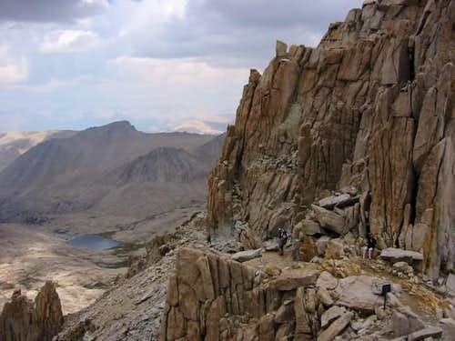 Slight descent in trail just...