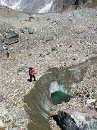 On the Miage glacier