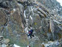 7a Down Climbing the notch