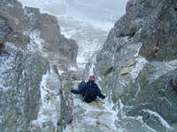 13 Downclimbing a gully