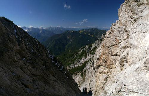 Notch view towards the Julian Alps