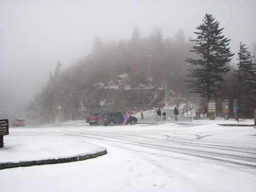 Storm hits at Newfound Gap.
