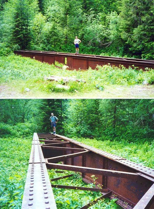 Two views of the old railroad...