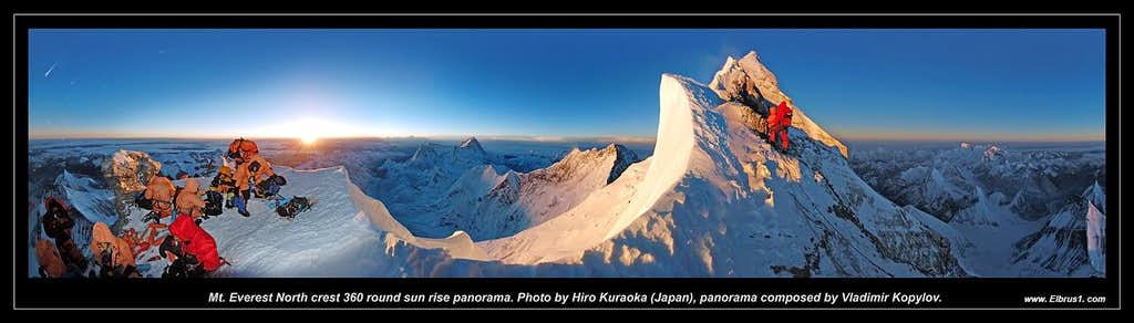 Mt. Everest North crest