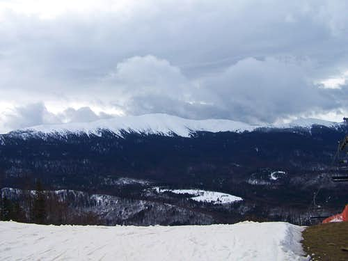 Babia Góra in winter scenery