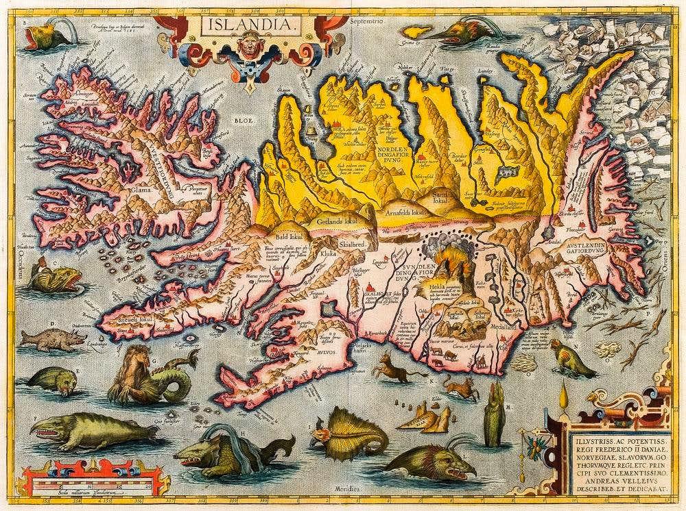 Bishop Gudbrandur Þorláksson's map of Iceland 1590
