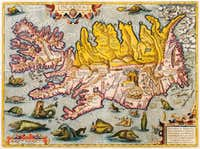 Bishop Gudbrandur Þorláksson s map of Iceland 1590