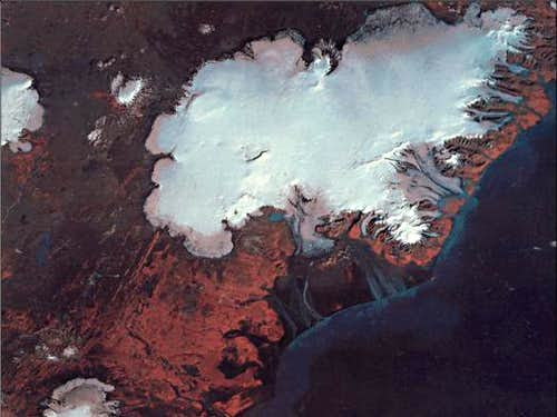 Satellite photo of Vatnajökull Image courtesy of MODIS Rapid Response Project at NASA-GSFC