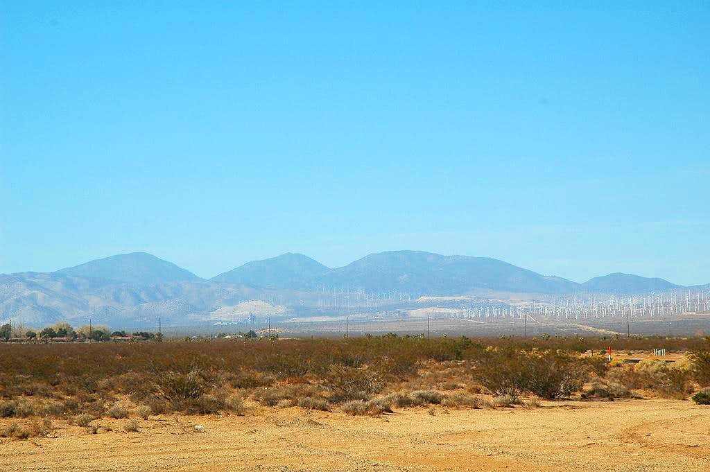 Tehachapi Mountains from the east