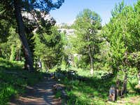 The Ruby Crest Trail and mountains