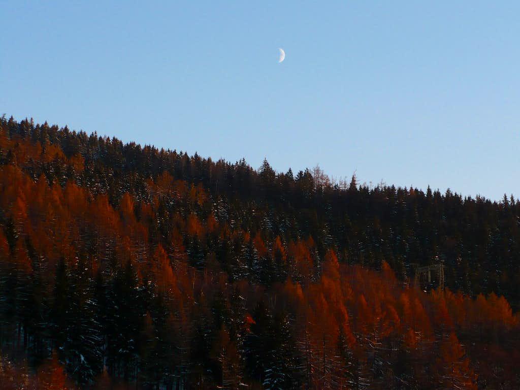 Sunset in Jeseníky mts.