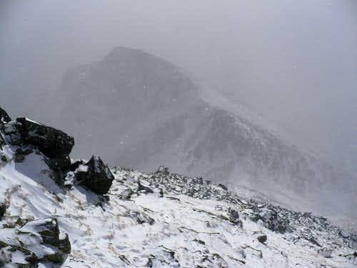 Predné Solisko (2093 m) from Mlynické Solisko (2301 m)