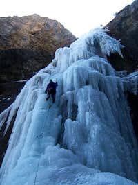 Ogre Canyon Ice - Brule, Alberta